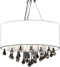 Chandelier with 85 Crystals White - White
