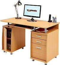 Chandler Computer Desk Zipcode Design Colour: Beech