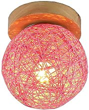 Chanety Simple Wooden Sepak Takraw Ceiling Lights