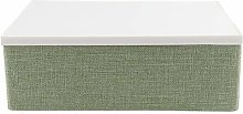 Changor Khaki/green Storage Bin, with Polymerus,
