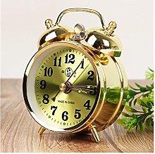CHANGXINBH Alarm clock Retro Gold Mechanical Alarm