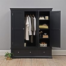 Chantilly Dusky Black Triple Wardrobe