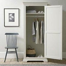 Chantilly Warm White Single Wardrobe