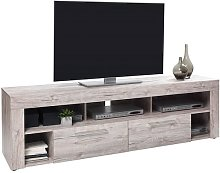 Chapel LCD TV Stand In Sand Oak With 2 Drawers And