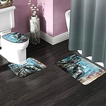 Chappie Bathroom Rugs Set Non-Slip Water