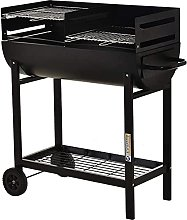 Charcoal Barbecue, 2 Freestanding Grills Smoker