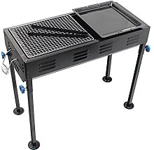 Charcoal Barbecue Grill Outdoor, Portable Iron