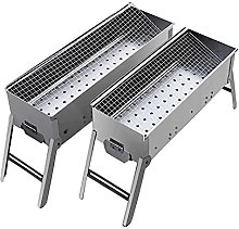 Charcoal Barbecue Grill, Stainless Steel Barbecue