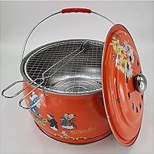 Charcoal BBQ Grill 12 2-inch Round Shape Charcoal