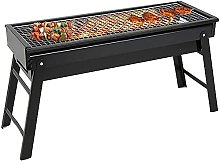 Charcoal BBQ Grill Portable Charcoal Grill Black
