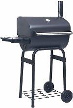 Charcoal BBQ Grill Smoker with Bottom Shelf Black