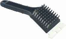 Charcoal/Gas BBQ Grill Brush Copper Wire - Black -