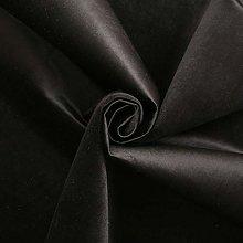 Charcoal Grey - LUXURY VELVET SHINY PLAIN GENOVA