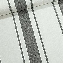 Charcoal Grey Off White Silver Glitter Stripes