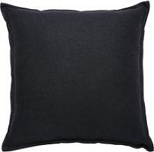 Charcoal Grey Washed Linen Cushion 45x45