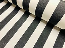 Charcoal Grey & White Striped DRALON Outdoor