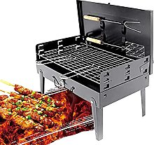 Charcoal Grill, Charcoal Stainless Steel Foldable