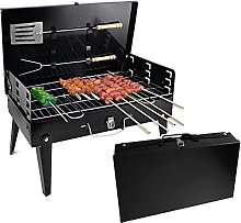 Charcoal Grill, Stainless Steel Portable Folding