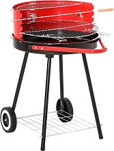 Charcoal Trolley BBQ Garden Cooking Grill w/