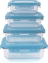 Charla Glass 4 Container Food Storage Set Symple