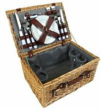 Charles Bentley 4 Person Wicker Picnic Basket