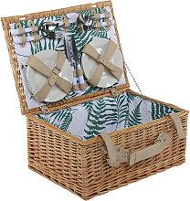 Charles Bentley 4 Person Wicker Picnic Basket Leaf