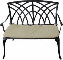 Festnight Bistro Bench 2-Seat Park Bench for Outdoor Garden Patio 100cm Bronze Cast Aluminium