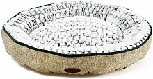 Charles Bentley Small Linen Soft Pet Bed Taupe -