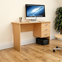 Charles Computer Desk, Pine
