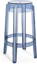 Charles Ghost Stackable bar stool - / H 65 cm -