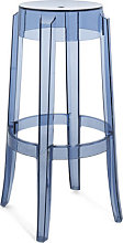 Charles Ghost Stackable bar stool - / H 75 cm -