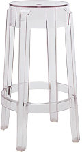 Charles Ghost Stackable bar stool - H 65 cm -