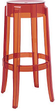Charles Ghost Stackable bar stool - H 75 cm -