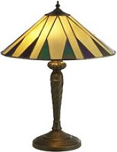 Charleston Tiffany Table Lamp In Yellow And