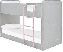 Charlie Fabric Bunk Bed With Mattress Options (Buy
