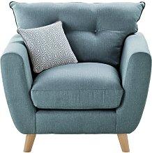 Charlotte Armchair Zipcode Design Upholstery: Teal