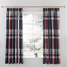 Charlotte Thomas Pair Lined Curtains & tie Backs,