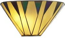 Charlston Tiffany Wall Light In Yellow And