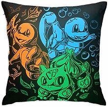 Charmander Bulbasaur Squirtle Square Pillowcase