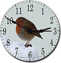Charming Robin Medium 25cm Round Acrylic Glass