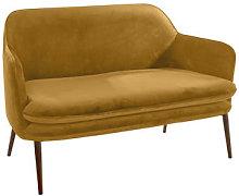 Charmy Straight sofa - Velvet - 128 cm by Pols