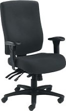 Charney 24 Hour Fabric Operator Chair (Black),