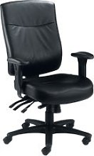 Charney 24 Hour Leather Faced Operator Chair,