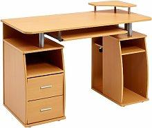 Chase Computer Desk Zipcode Design Colour: Beech