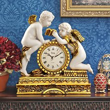 Chateau Carbonne Cherub Mantle Clock Design Toscano