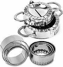 CHAWHO 2 Pack Stainless Steel Dumpling Maker and 6
