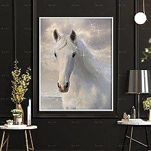 CHBOEN Artwork Canvas Painting Posters Print White