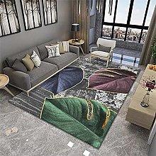 Cheap Carpet Floor Rugs Leaf Modern Rug Grey Rug