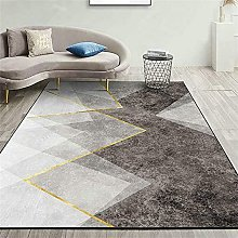 Cheap Carpet Living Room Rug Gold gray abstract