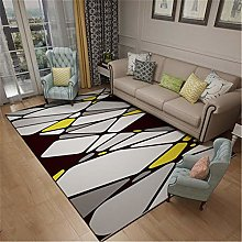 Cheap Carpet Modern Geometry Elegant Rug Black